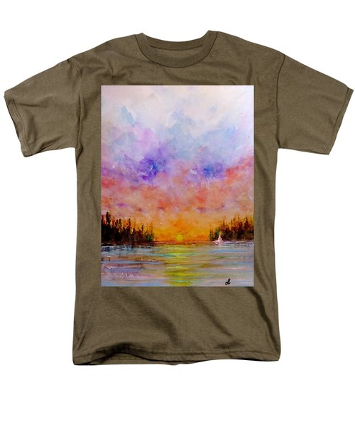 Men's T-Shirt  (Regular Fit) featuring the painting Dreamscape.. by Cristina Mihailescu