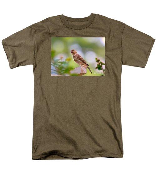 Men's T-Shirt  (Regular Fit) featuring the photograph Dreamy Finch by Lisa L Silva