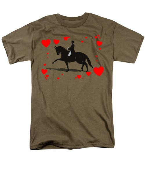 Dressage With Hearts Men's T-Shirt  (Regular Fit) by Patricia Barmatz
