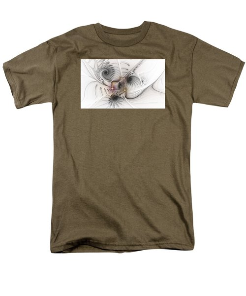 Men's T-Shirt  (Regular Fit) featuring the digital art Dressed In Silk And Satin by Karin Kuhlmann