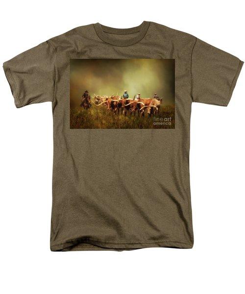 Driving The Herd Men's T-Shirt  (Regular Fit) by Priscilla Burgers