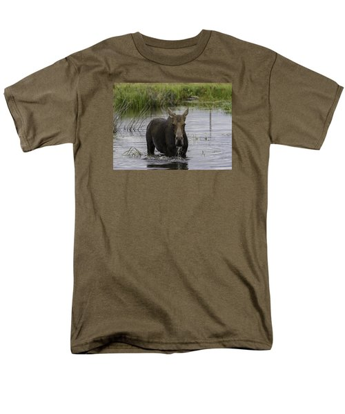 Drooling Cow Moose Men's T-Shirt  (Regular Fit) by Elizabeth Eldridge