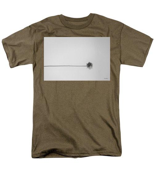 Dry Flower - Black And White Art Photo Men's T-Shirt  (Regular Fit) by Modern Art Prints
