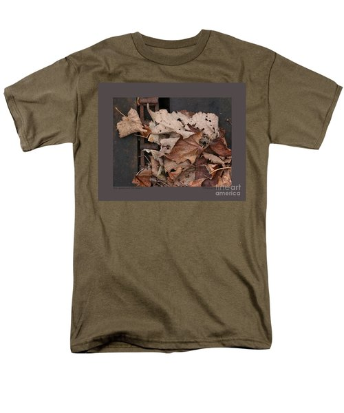 Dry Leaves And Old Steel-ii Men's T-Shirt  (Regular Fit) by Patricia Overmoyer