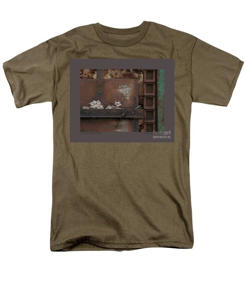 Dry Leaves And Old Steel-iv Men's T-Shirt  (Regular Fit) by Patricia Overmoyer
