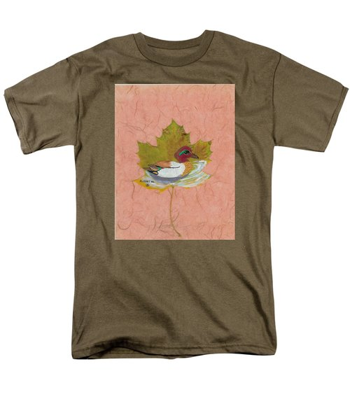 Duck On Pond Men's T-Shirt  (Regular Fit) by Ralph Root