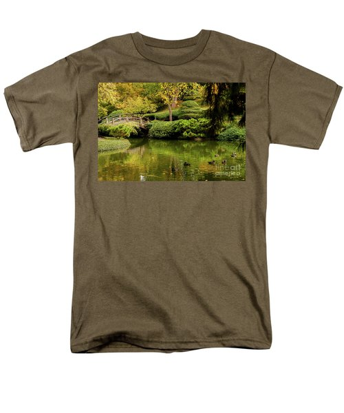 Men's T-Shirt  (Regular Fit) featuring the photograph Ducks In Summertime by Iris Greenwell