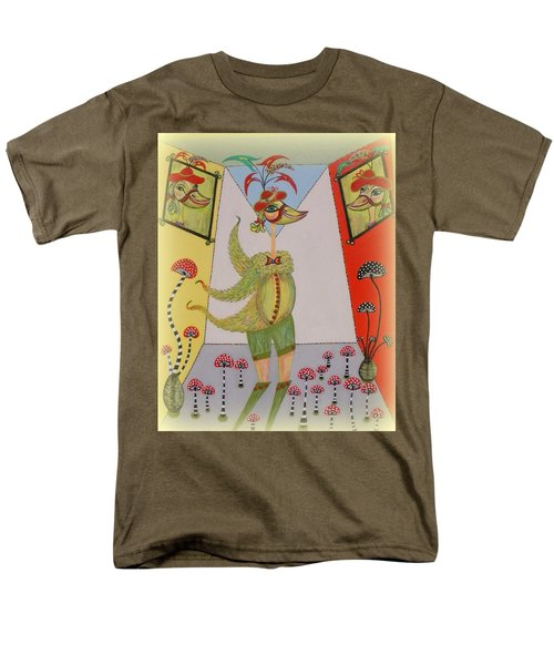 Men's T-Shirt  (Regular Fit) featuring the painting Duke's Adventure by Marie Schwarzer