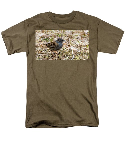 Men's T-Shirt  (Regular Fit) featuring the photograph Dunnock by Torbjorn Swenelius