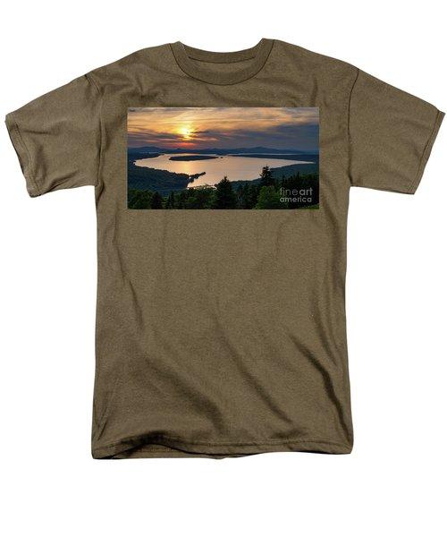 Men's T-Shirt  (Regular Fit) featuring the photograph Dusk, Mooselookmeguntic Lake, Rangeley, Maine -63362-63364 by John Bald