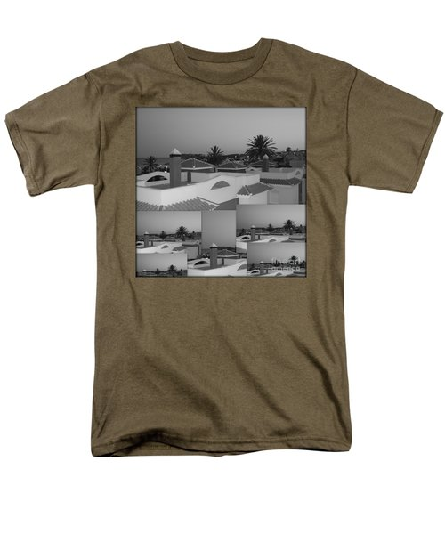 Dusky Rooftops Men's T-Shirt  (Regular Fit) by Linda Prewer
