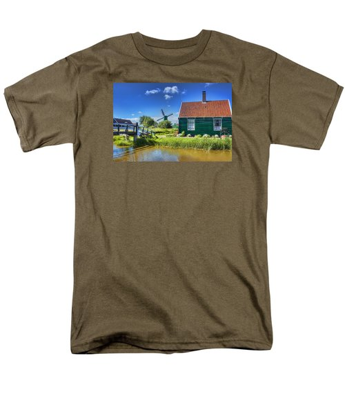 Dutch Village Men's T-Shirt  (Regular Fit) by Nadia Sanowar