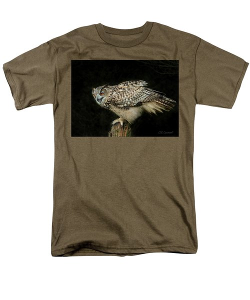 Eagle-owl Men's T-Shirt  (Regular Fit) by CR Courson