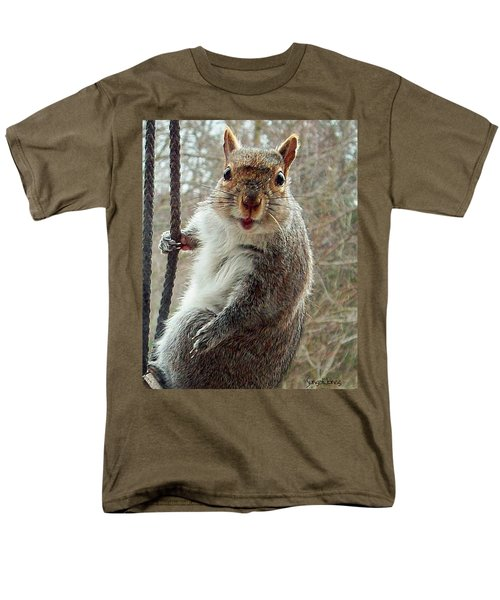 Earl The Squirrel Men's T-Shirt  (Regular Fit) by Robert Orinski