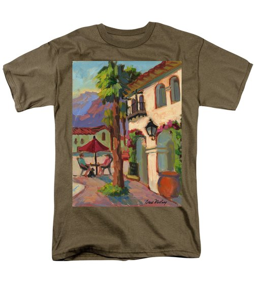 Early Morning Coffee At Old Town La Quinta Men's T-Shirt  (Regular Fit) by Diane McClary