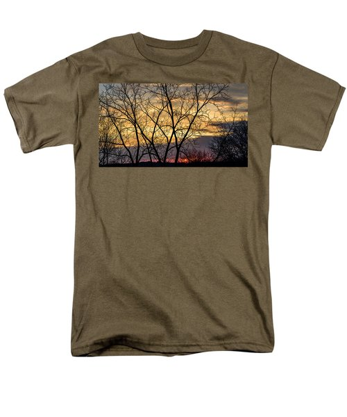 Early Spring Sunrise Men's T-Shirt  (Regular Fit) by Randy Scherkenbach