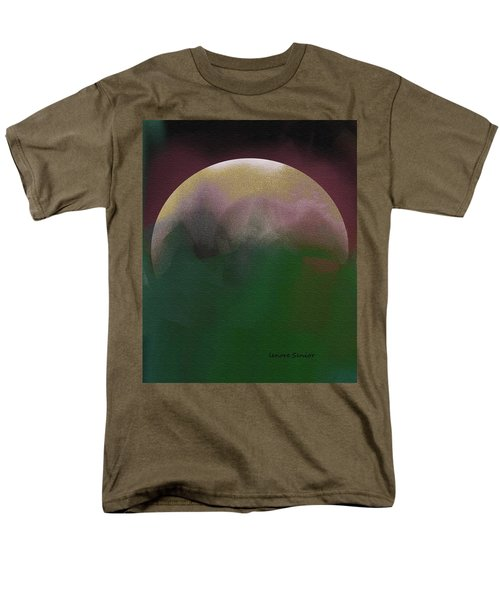 Earth And Moon Men's T-Shirt  (Regular Fit) by Lenore Senior