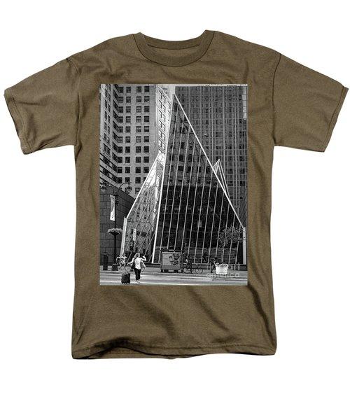 Men's T-Shirt  (Regular Fit) featuring the photograph East 42nd Street, New York City  -17663-bw by John Bald