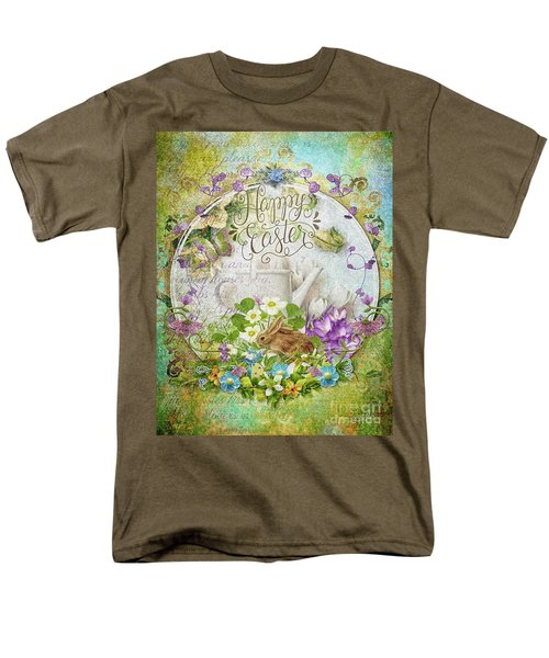 Men's T-Shirt  (Regular Fit) featuring the mixed media Easter Breakfast by Mo T
