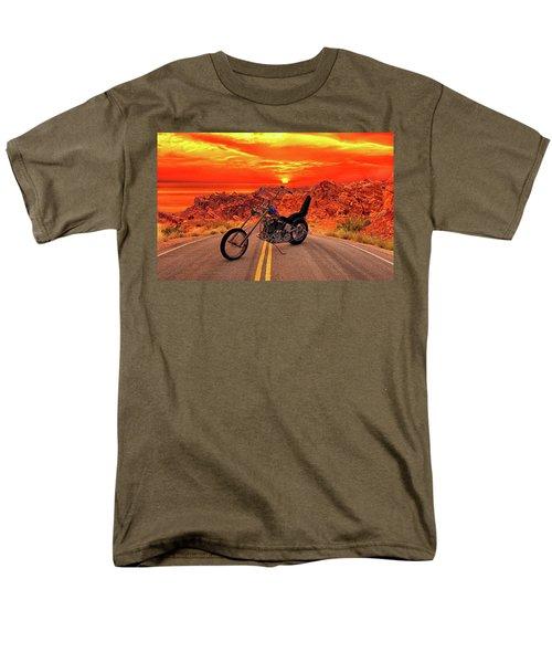 Men's T-Shirt  (Regular Fit) featuring the photograph Easy Rider Chopper by Louis Ferreira
