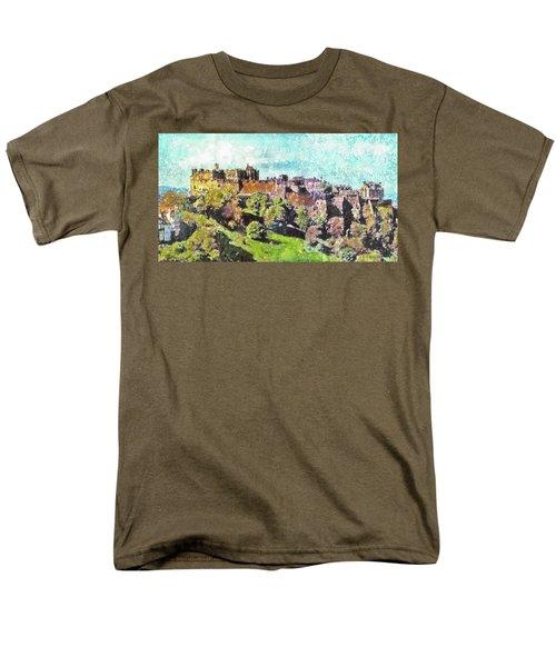 Edinburgh Castle Skyline No 2 Men's T-Shirt  (Regular Fit) by Richard James Digance