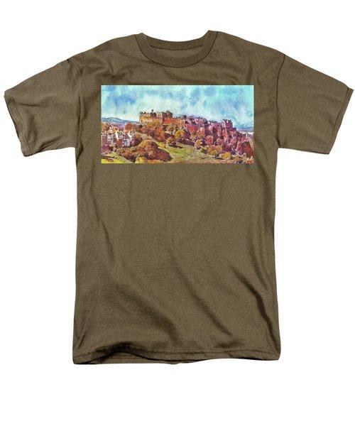Edinburgh Skyline No 1 Men's T-Shirt  (Regular Fit) by Richard James Digance