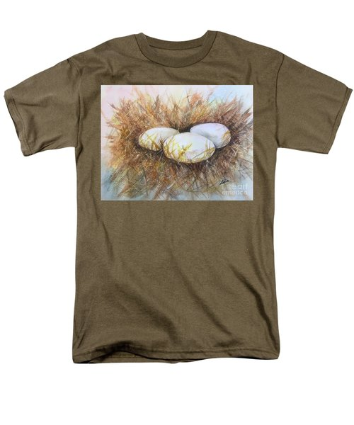 Men's T-Shirt  (Regular Fit) featuring the painting Eggs On Straw by Lucia Grilletto