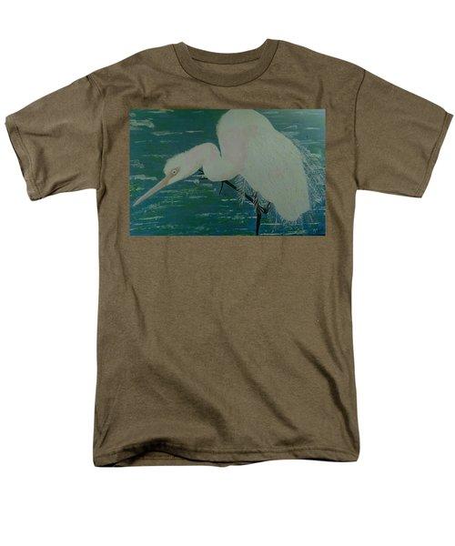 Men's T-Shirt  (Regular Fit) featuring the painting Egret by Judi Goodwin