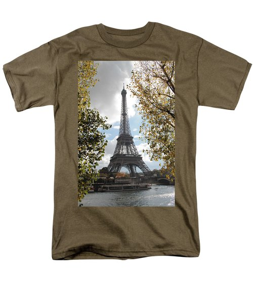 Men's T-Shirt  (Regular Fit) featuring the photograph Eiffel From Avenue De New York by Christopher Kirby