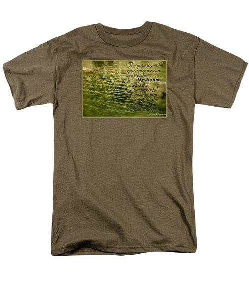 Men's T-Shirt  (Regular Fit) featuring the photograph Einstein Mysterious by David Norman
