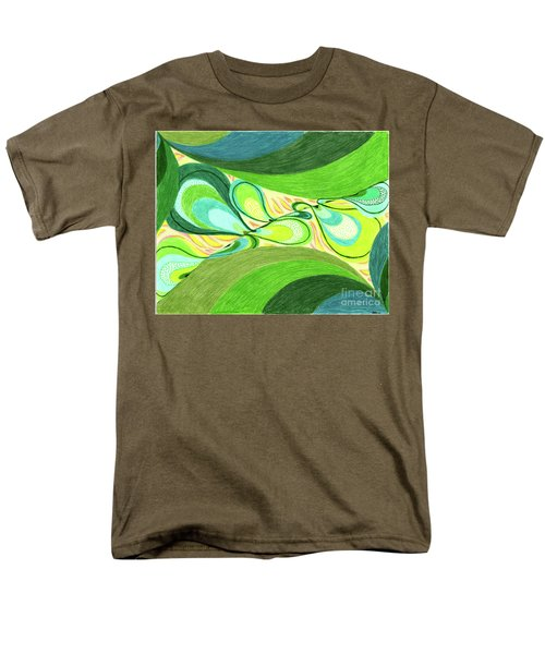 Men's T-Shirt  (Regular Fit) featuring the drawing Elements by Kim Sy Ok