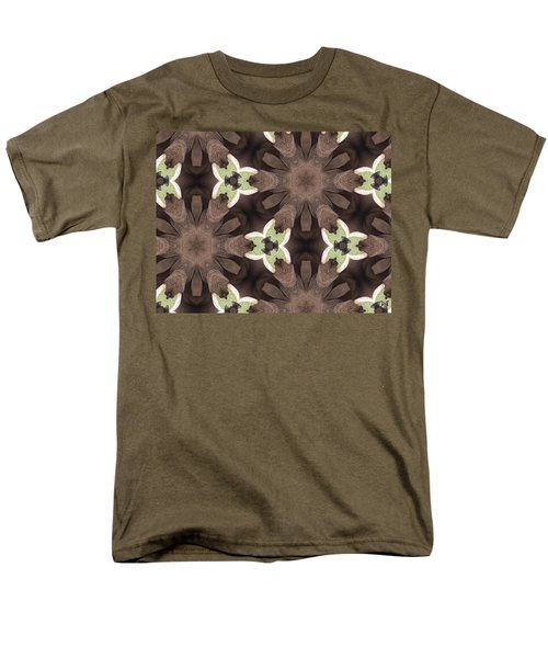 Elephant Flowers Men's T-Shirt  (Regular Fit) by Maria Watt