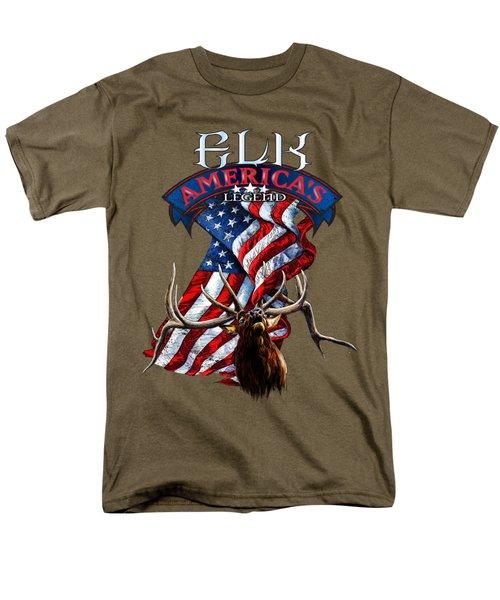 Elk America's Legend V2 Men's T-Shirt  (Regular Fit)