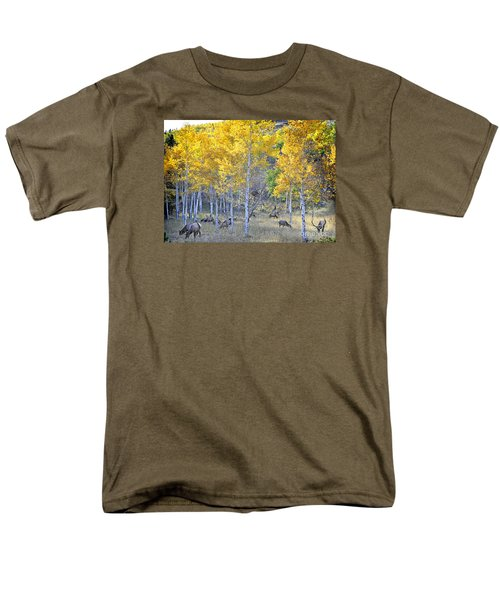 Elk In Rmnp Colorado Men's T-Shirt  (Regular Fit) by Nava Thompson