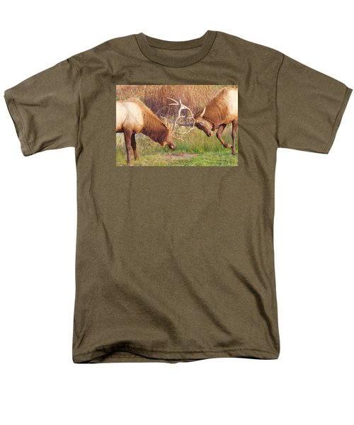 Elk Tussle Too Men's T-Shirt  (Regular Fit) by Todd Kreuter