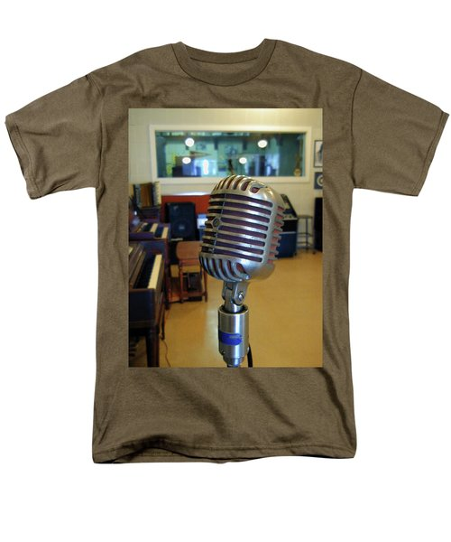 Men's T-Shirt  (Regular Fit) featuring the photograph Elvis Presley Microphone by Mark Czerniec