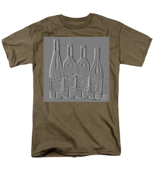 Embossed Wine Bottles Men's T-Shirt  (Regular Fit) by Donna Bentley