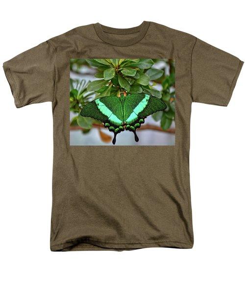 Emerald Swallowtail Butterfly Men's T-Shirt  (Regular Fit) by Ronda Ryan