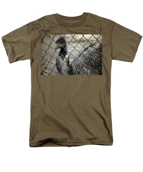 Emu At The Zoo Men's T-Shirt  (Regular Fit) by Luke Moore