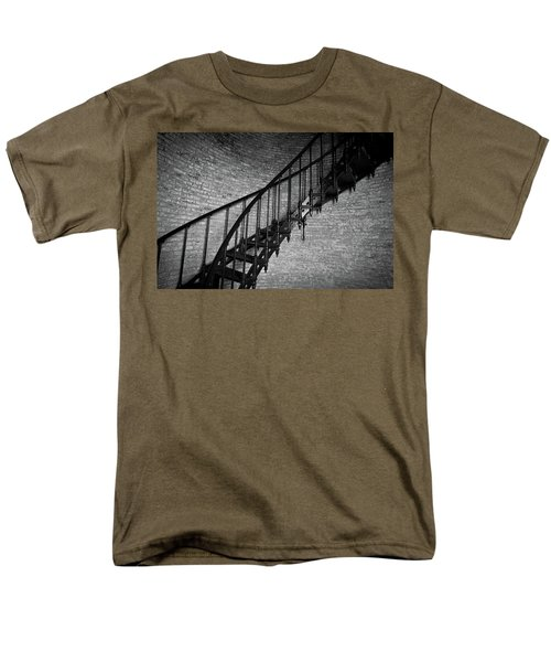 Men's T-Shirt  (Regular Fit) featuring the photograph Enchanted Staircase II - Currituck Lighthouse by David Sutton