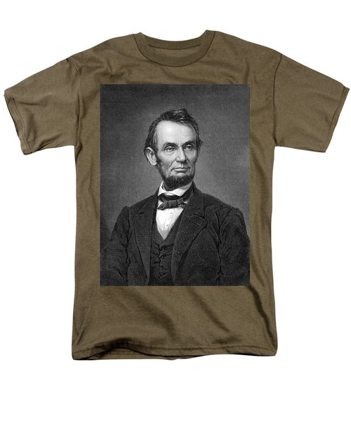 Engraving Of Portrait Of Abraham Lincoln From Brady Photograph Men's T-Shirt  (Regular Fit) by Phil Cardamone
