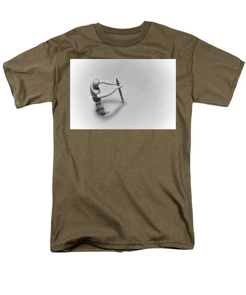 Men's T-Shirt  (Regular Fit) featuring the photograph Erasing His Tracks by Mark Fuller