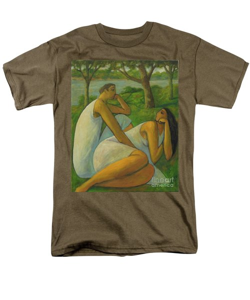 Men's T-Shirt  (Regular Fit) featuring the painting Eros And Rhea by Glenn Quist