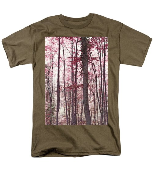 Ethereal Austrian Forest In Marsala Burgundy Wine Men's T-Shirt  (Regular Fit) by Brooke T Ryan