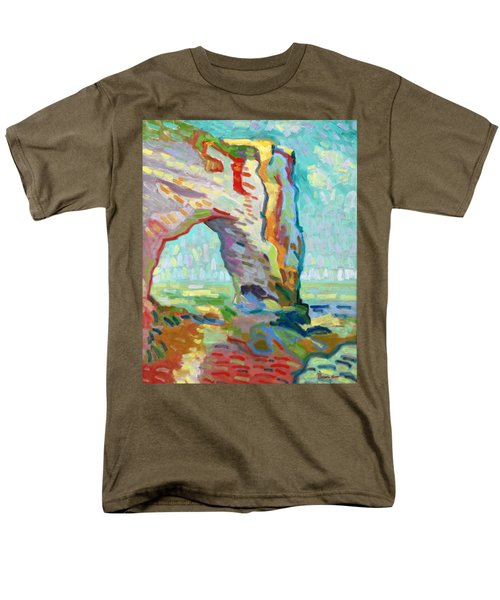 Etretat  Men's T-Shirt  (Regular Fit) by Pierre Van Dijk