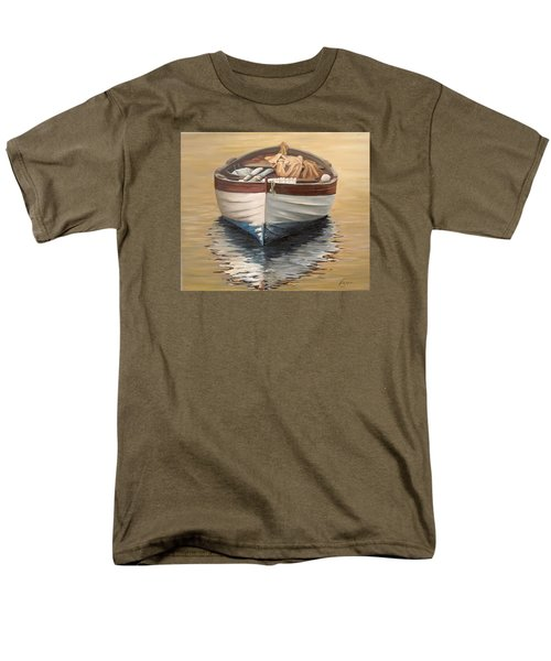 Men's T-Shirt  (Regular Fit) featuring the painting Evening Boat by Natalia Tejera