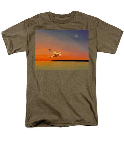 Men's T-Shirt  (Regular Fit) featuring the painting Evening Flight by David  Van Hulst