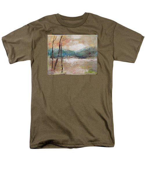 Men's T-Shirt  (Regular Fit) featuring the painting Evening In Fall by Becky Kim