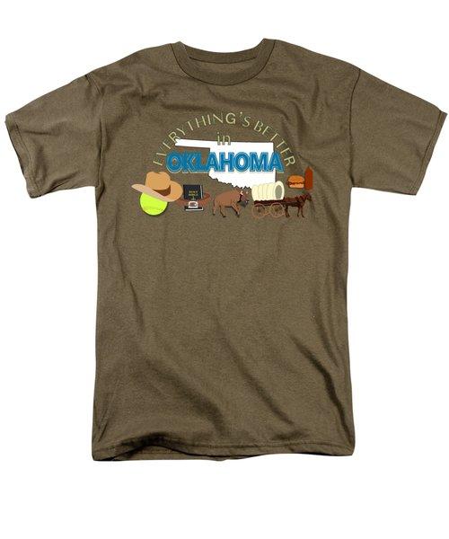 Everything's Better In Oklahoma Men's T-Shirt  (Regular Fit) by Pharris Art