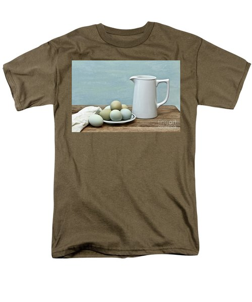 Exotic Colored Eggs With Pitcher Men's T-Shirt  (Regular Fit) by Pattie Calfy